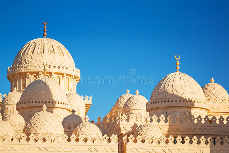 Mooie architectuur van Moskee in Hurghada royalty-vrije stock afbeeldingen