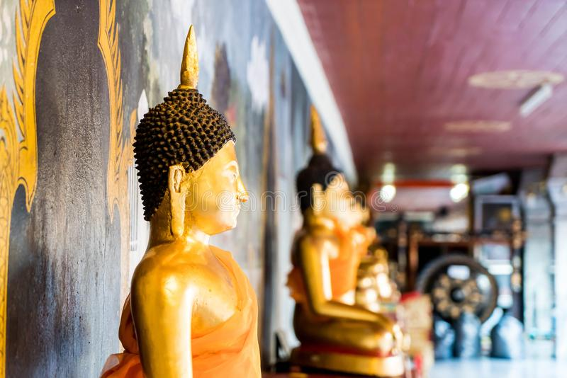 Mooie architectuur in Wat Phra That Doi Suthep in Chiang Mai stock fotografie
