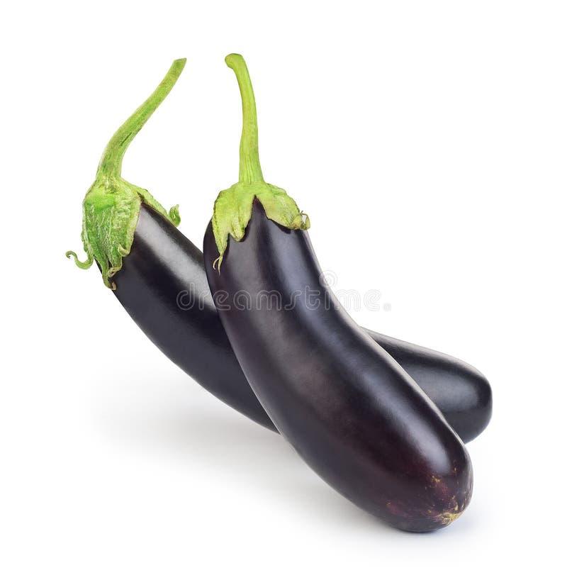 Mooie aubergines op een witte achtergrond stock afbeeldingen
