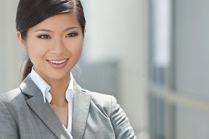 Mooie Aziatische Chinese Vrouw of Onderneemster stock foto