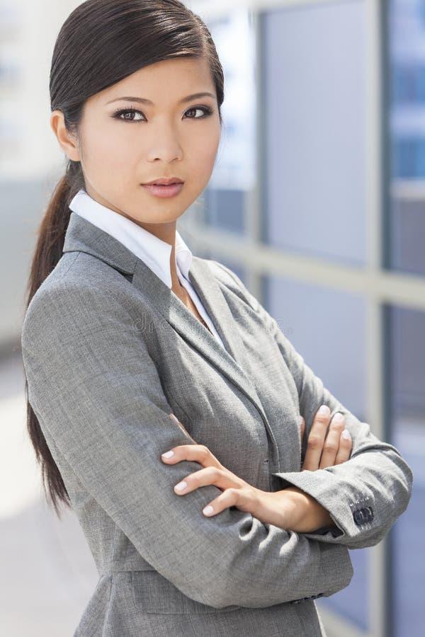 Mooie Aziatische Chinese Vrouw of Onderneemster stock afbeelding