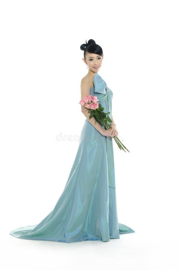 Mooie Aziatische vrouw stock afbeelding