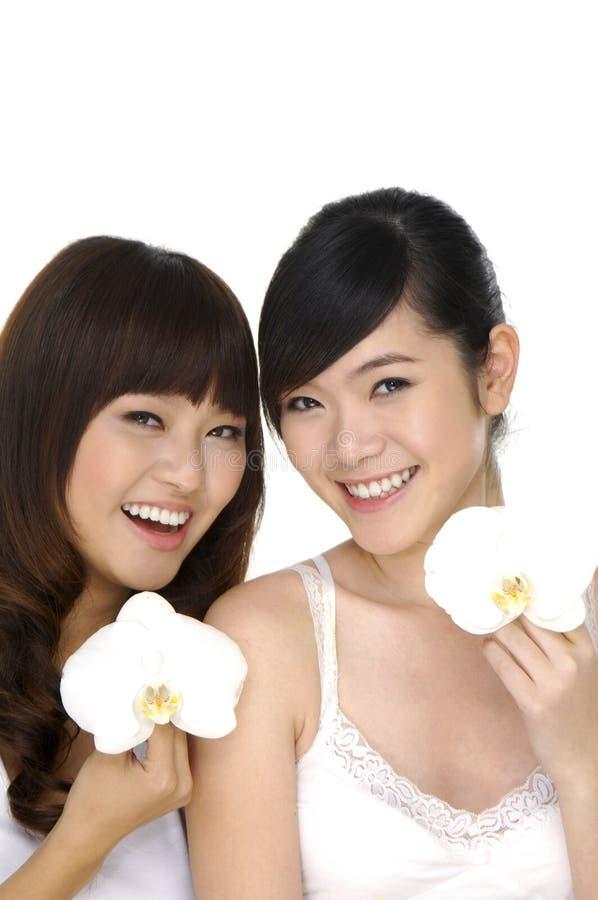 Mooie Aziatische vrouw stock foto