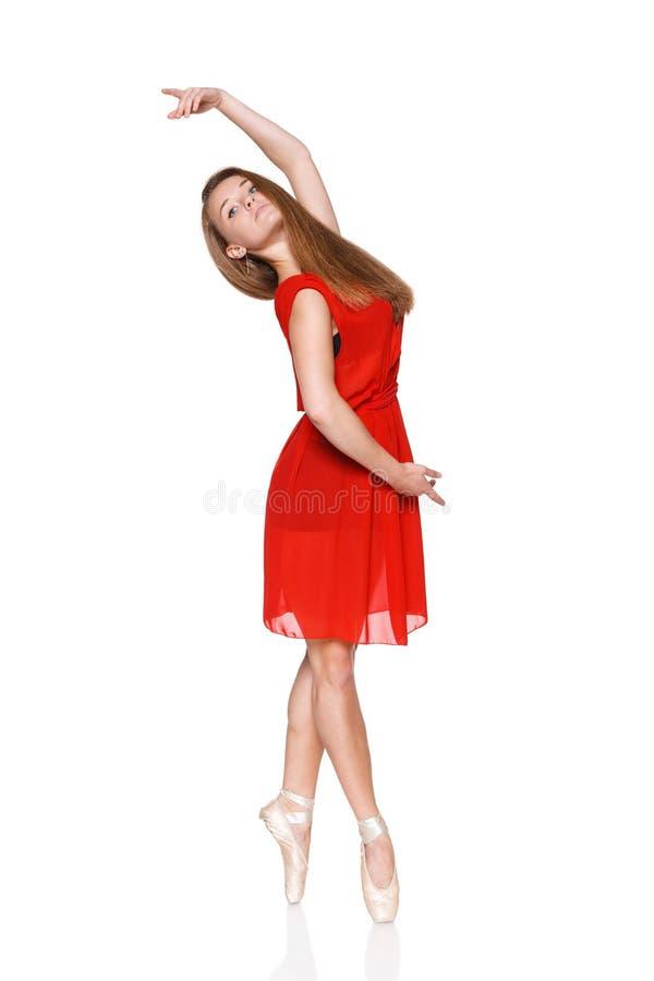 Mooie balletdanser, moderne stijldanser royalty-vrije stock fotografie
