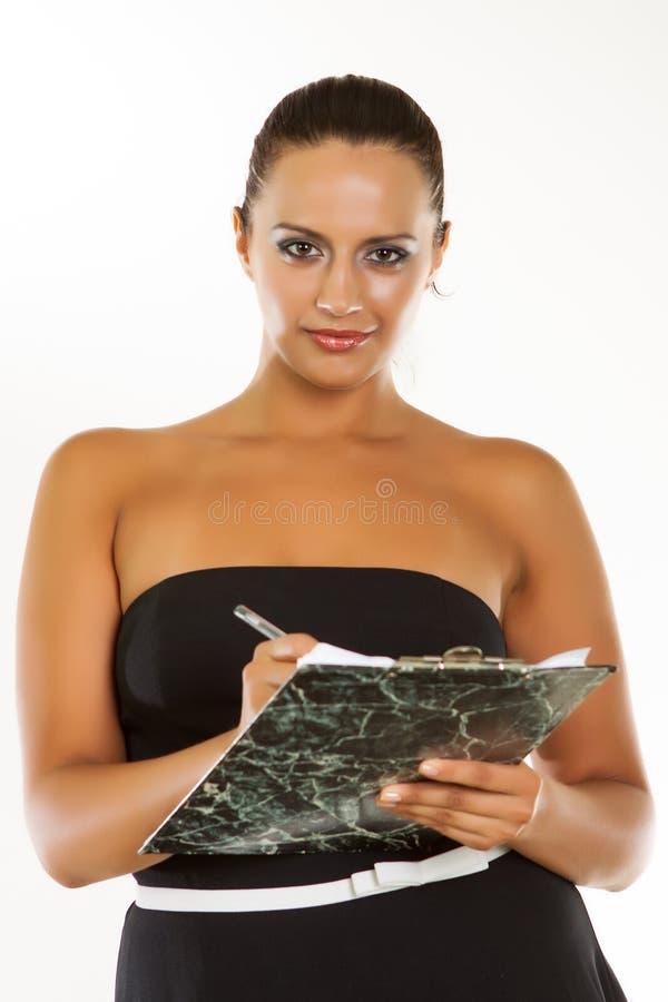 Mooie bedrijfsvrouw stock foto