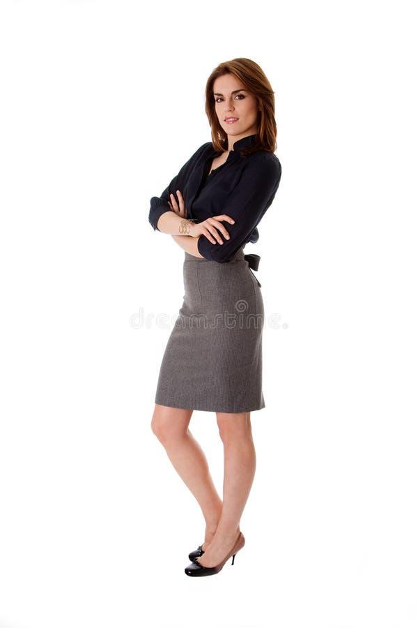 Mooie bedrijfsvrouw stock fotografie