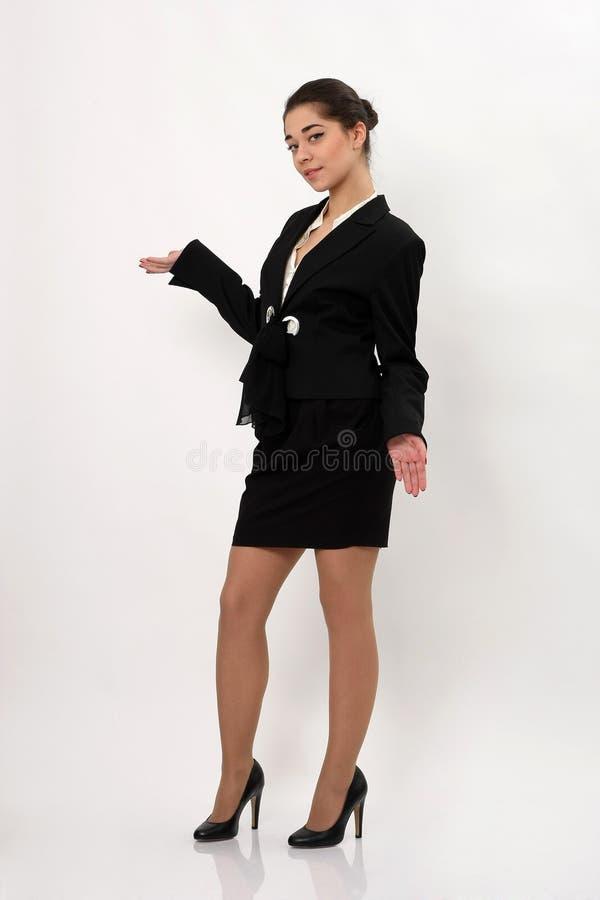 Download Mooie Bedrijfsvrouw Op Een Witte Achtergrond Stock Afbeelding - Afbeelding bestaande uit jong, bureau: 39109943