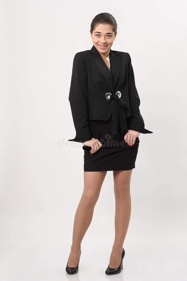 Download Mooie Bedrijfsvrouw Op Een Witte Achtergrond Stock Foto - Afbeelding bestaande uit jong, volwassen: 39109982