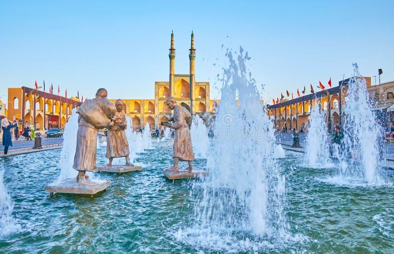 Mooie beeldhouwwerken van Yazd royalty-vrije stock fotografie