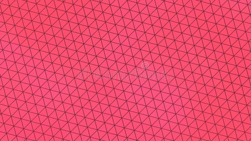 Mooie behangbanner met, Abstract ontwerp, Geometrisch Patroon, Driehoeken, Lijnen, textuur, Roze royalty-vrije illustratie