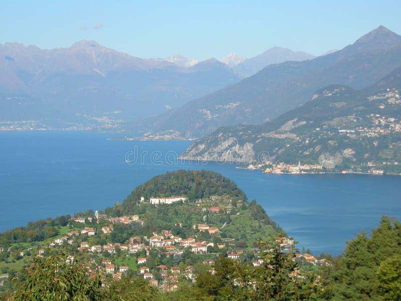 mooie Bellagio op het panorama van Como Italië van het Meer royalty-vrije stock afbeelding