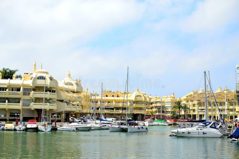 mooie Benalmadena-jachthaven, Costa del Sol, Spanje royalty-vrije stock afbeelding