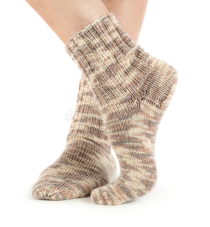 Mooie benenvrouw met sokken royalty-vrije stock afbeelding