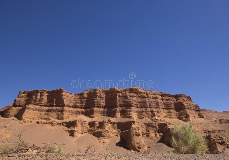 Mooie berg in de canion van Kharmin Tsav (Mongolië) stock afbeelding