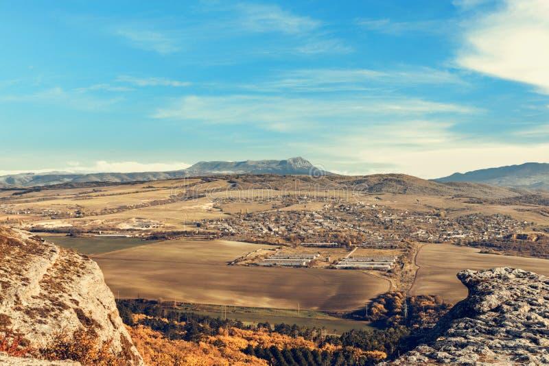 Mooie berg en Vallei in de Krim stock foto