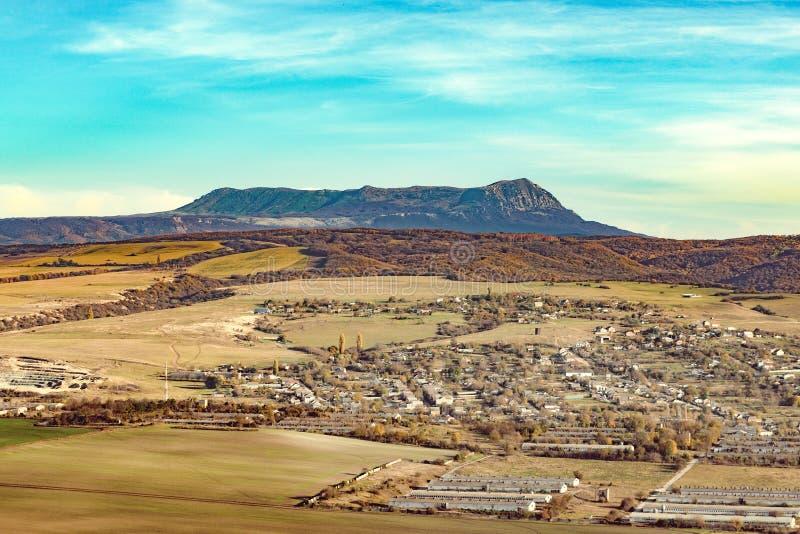 Mooie berg en Vallei in de Krim royalty-vrije stock foto
