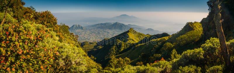 Mooie bergen in Java stock afbeeldingen