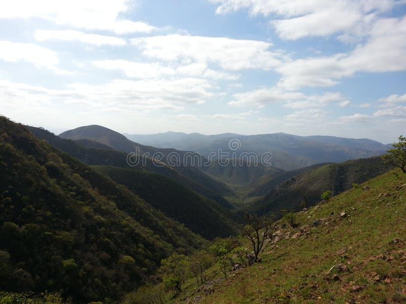 Mooie bergen van Barberton stock fotografie