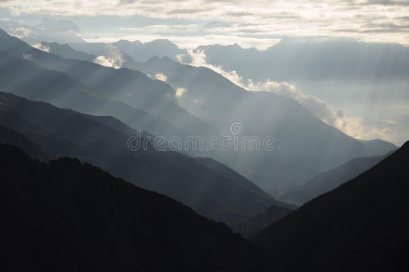 Mooie bergranden, Nepal royalty-vrije stock fotografie