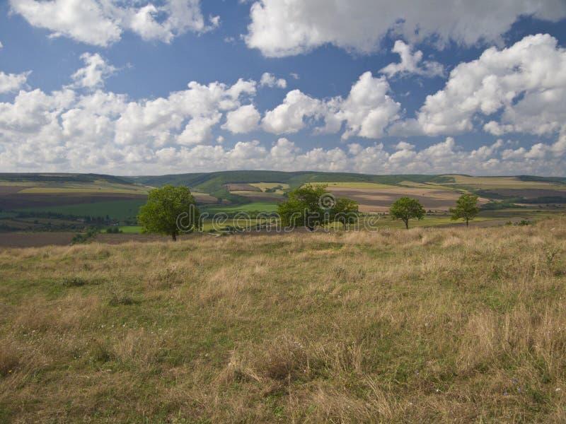 Mooie bewolkte weerbeelden stock foto