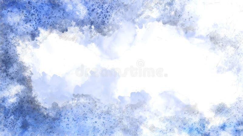 Mooie Blauwe hemel en wolk voor achtergrondwaterverfverf royalty-vrije illustratie