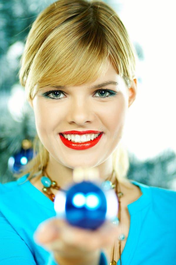 Mooie Blauwe Kerstmis stock afbeeldingen