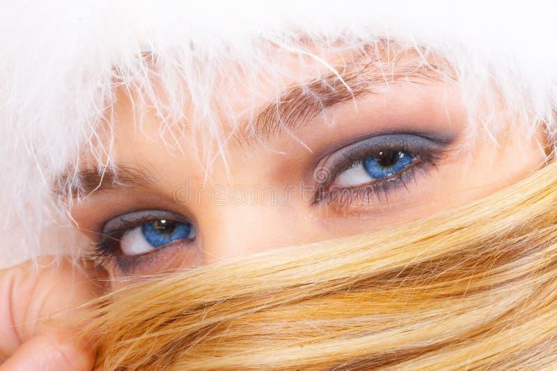 Mooie blauwe ogen royalty-vrije stock afbeeldingen