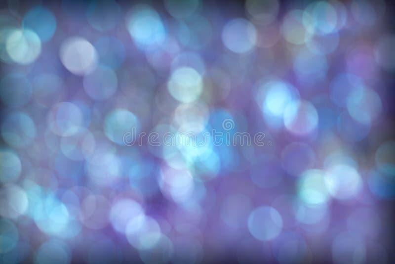 Mooie Blauwe Purpere Aqua Bokeh Background royalty-vrije stock afbeelding