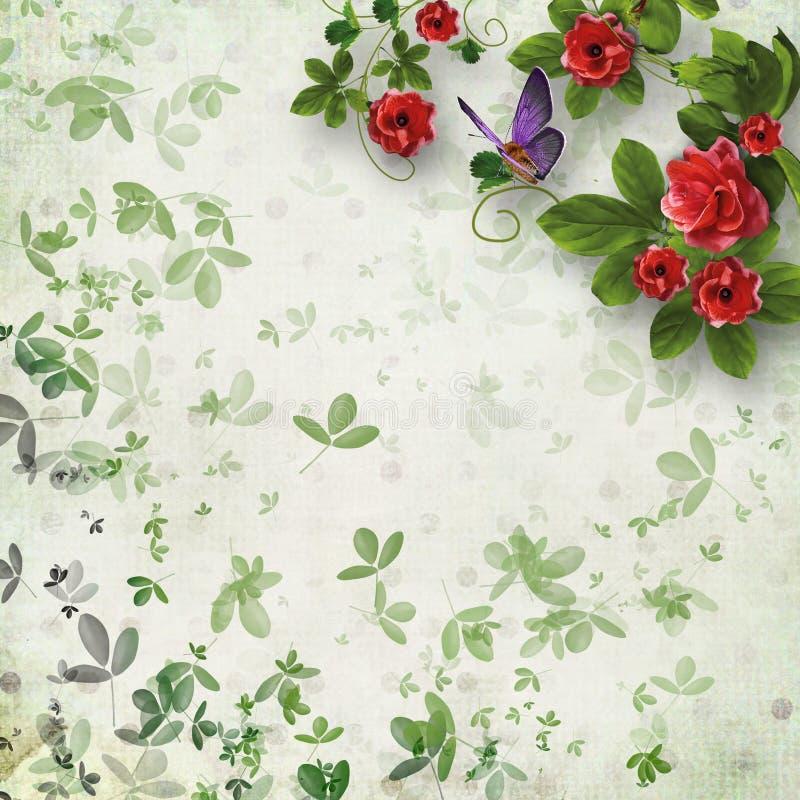 Mooie bloemen abstracte achtergrond royalty-vrije stock fotografie