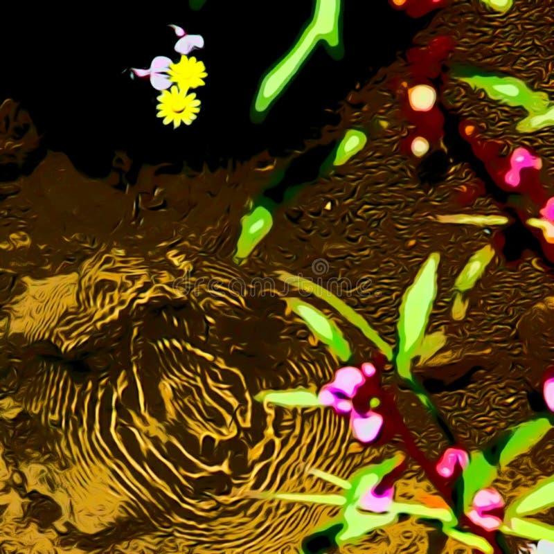 Mooie bloemen in water vector illustratie
