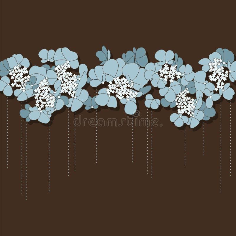 Mooie bloemenachtergrond met blauwe bloemen vector illustratie
