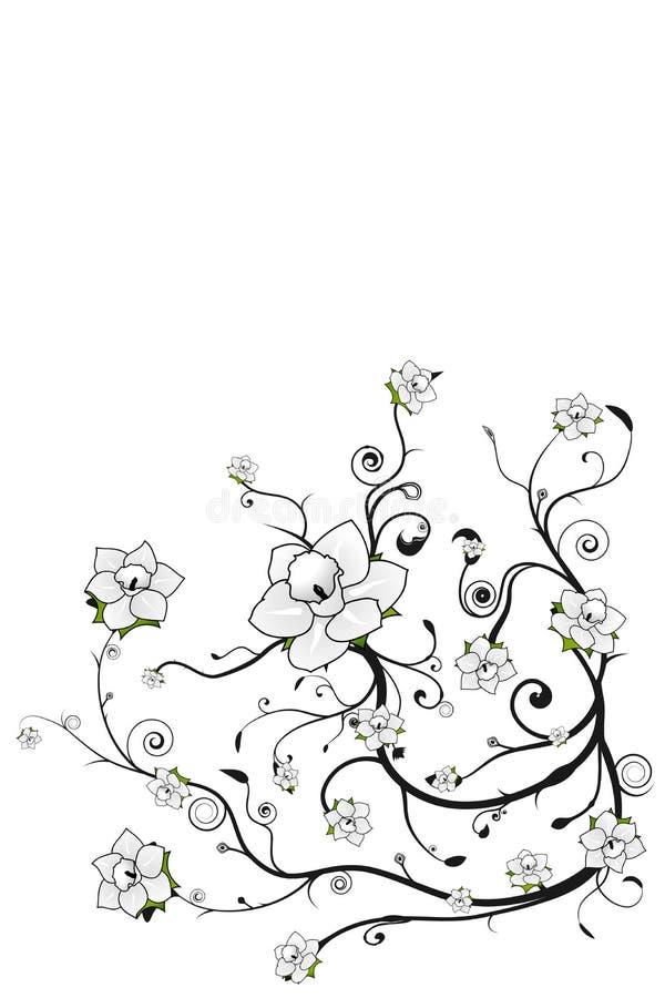 Mooie bloemengrungeachtergrond vector illustratie