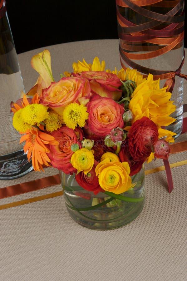 Mooie bloemstukken stock foto