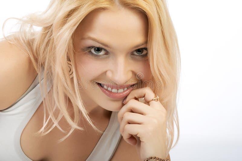 Mooie blonde. stock foto