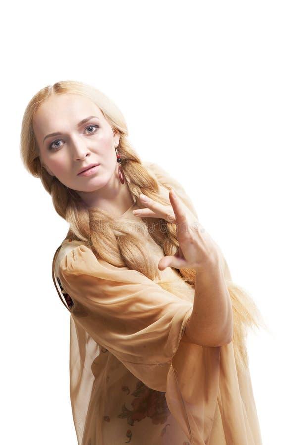 Mooie blonde vrouw royalty-vrije stock fotografie