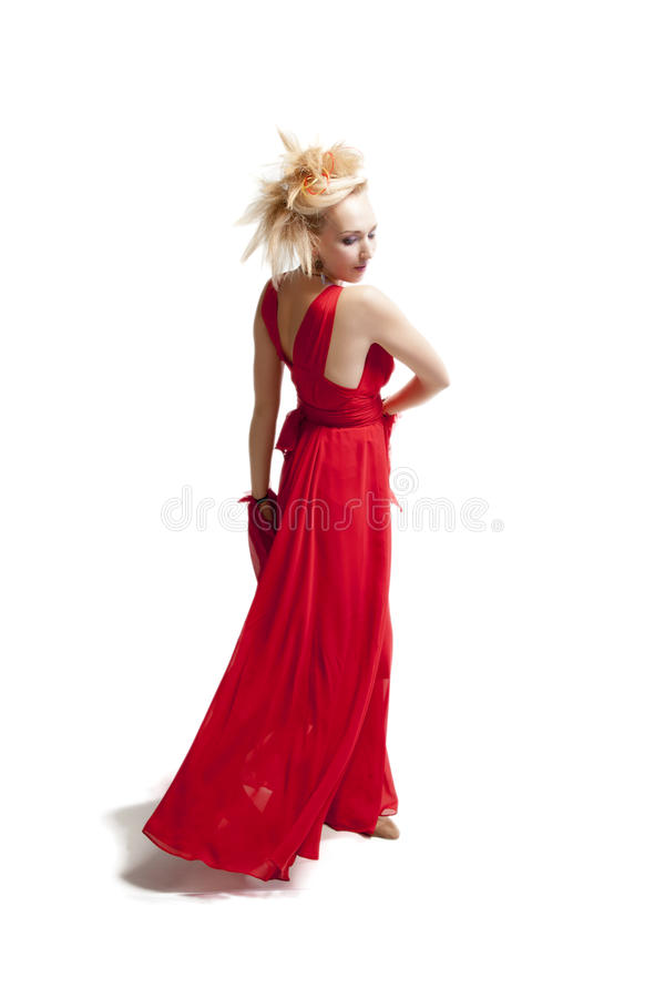 Mooie blonde vrouw stock afbeelding
