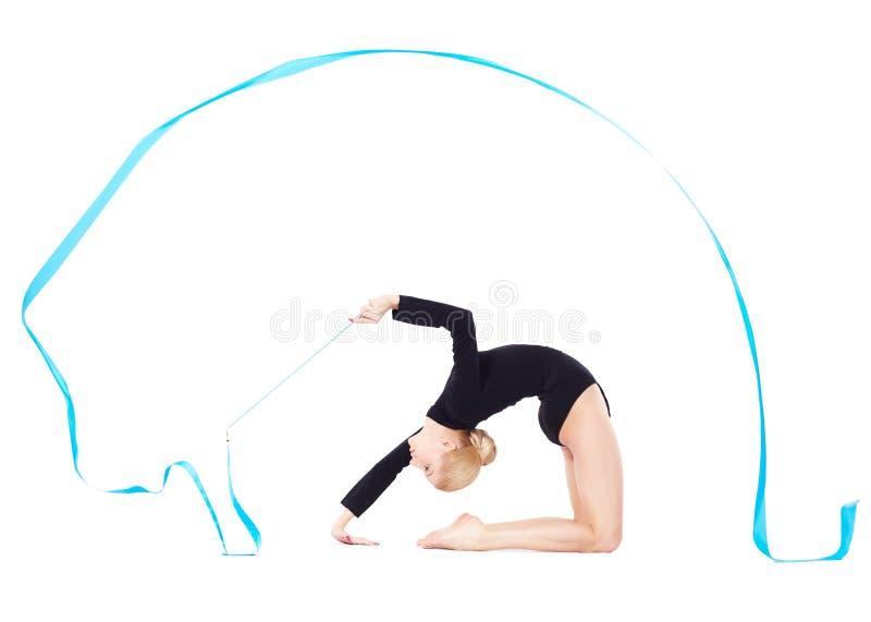 Download Mooie blondeturner stock afbeelding. Afbeelding bestaande uit prestaties - 29513723