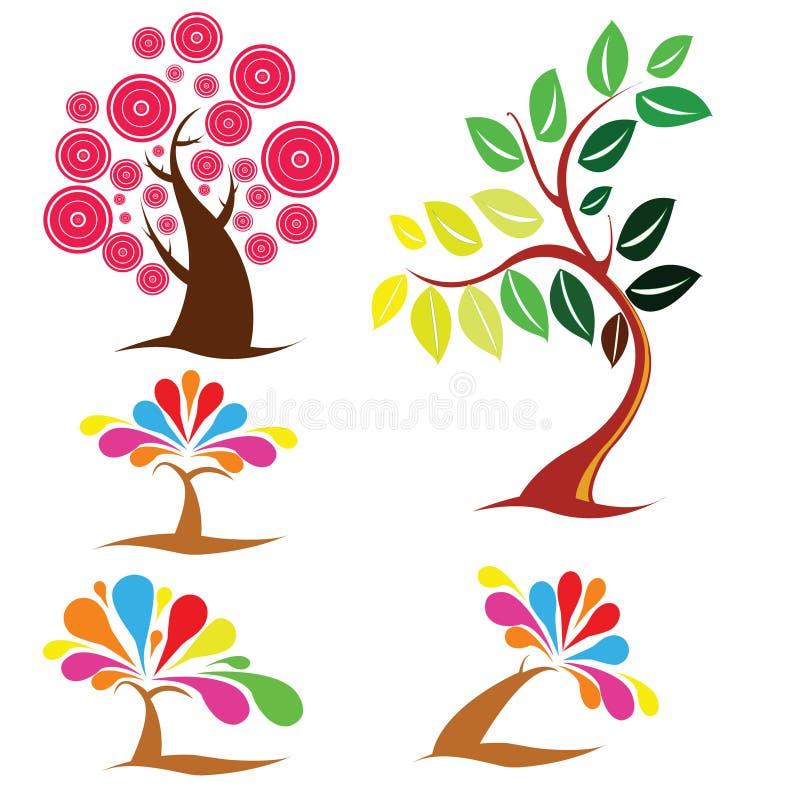 Mooie bomeninzameling stock afbeelding