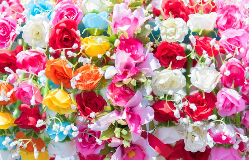 Mooie bos van bloemen De kleurrijke bloemen voor huwelijk en bedriegen stock fotografie