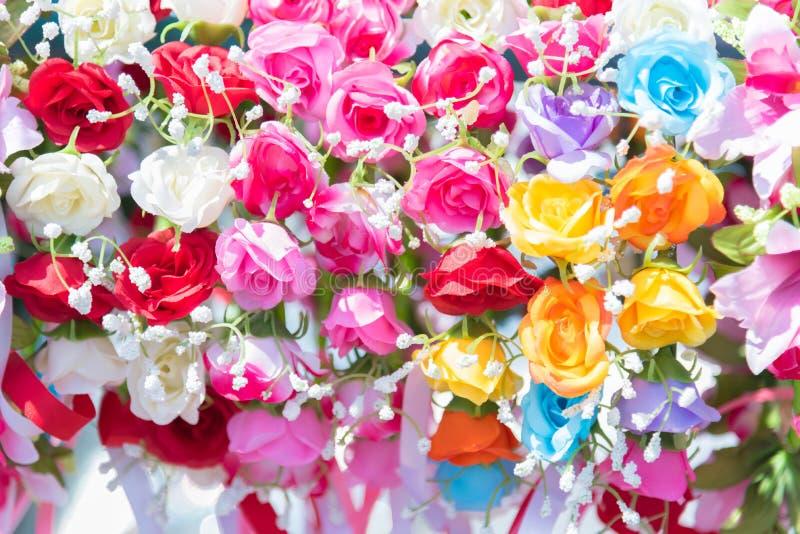 Mooie bos van bloemen De kleurrijke bloemen voor huwelijk en bedriegen stock foto's