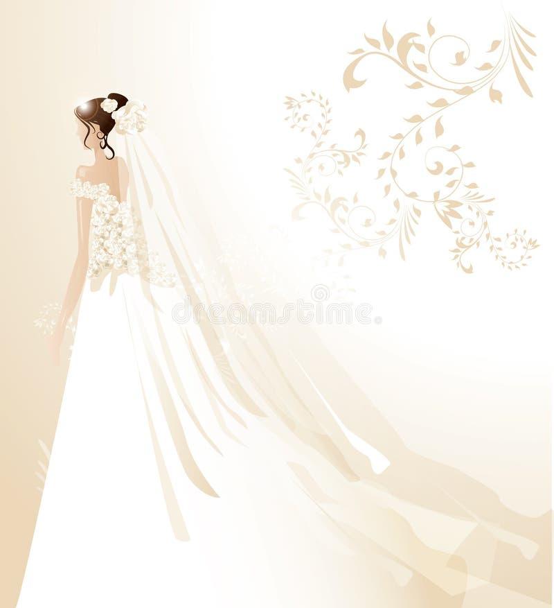 Mooie bruid royalty-vrije illustratie