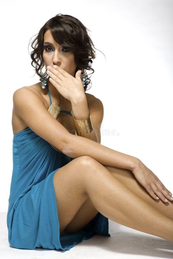 Mooi brunette stock foto