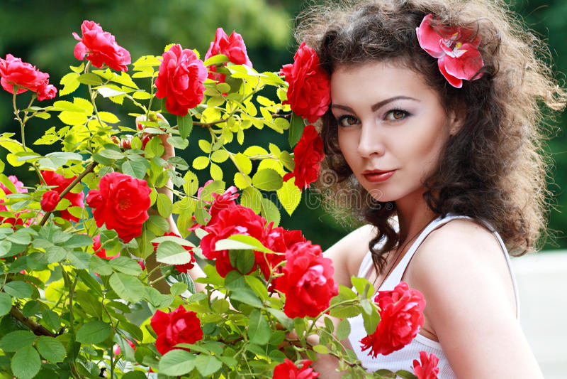 Mooie brunette stock afbeelding