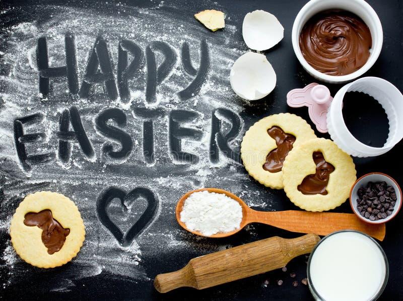 Mooie bu van het bakselkoekjes vakantievoedsel van het de achtergrond Gelukkige van Pasen royalty-vrije stock foto