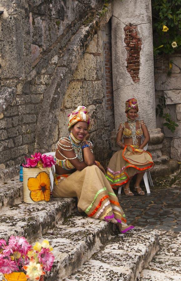 Mooie Caraïbische Zwarte op de beroemdheid royalty-vrije stock foto