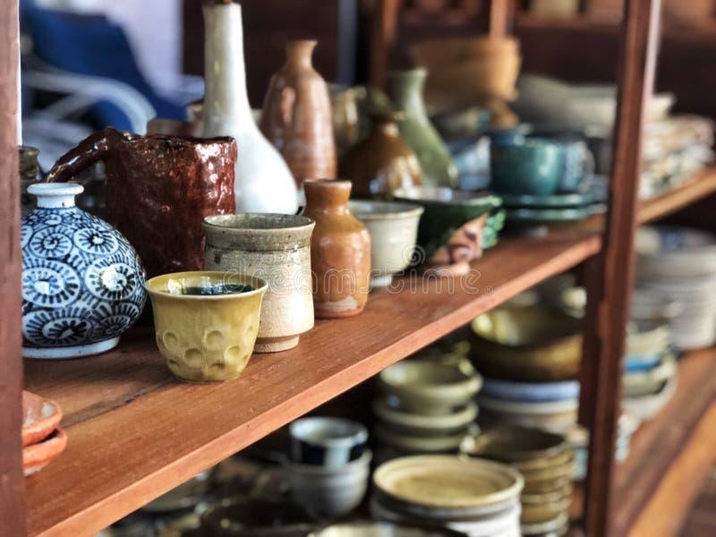Mooie ceramisch in Thailand, Handcraft op ceramische waren royalty-vrije stock foto