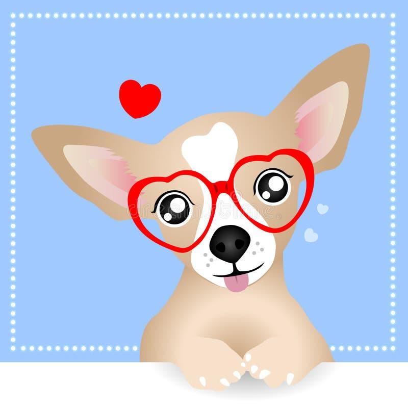 Mooie Chihuahua-Hond stock illustratie