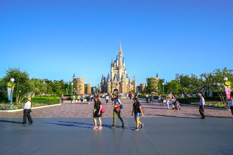 Mooie Cinderella Castle in Tokyo Disneyland, Tokyo, Japan royalty-vrije stock foto
