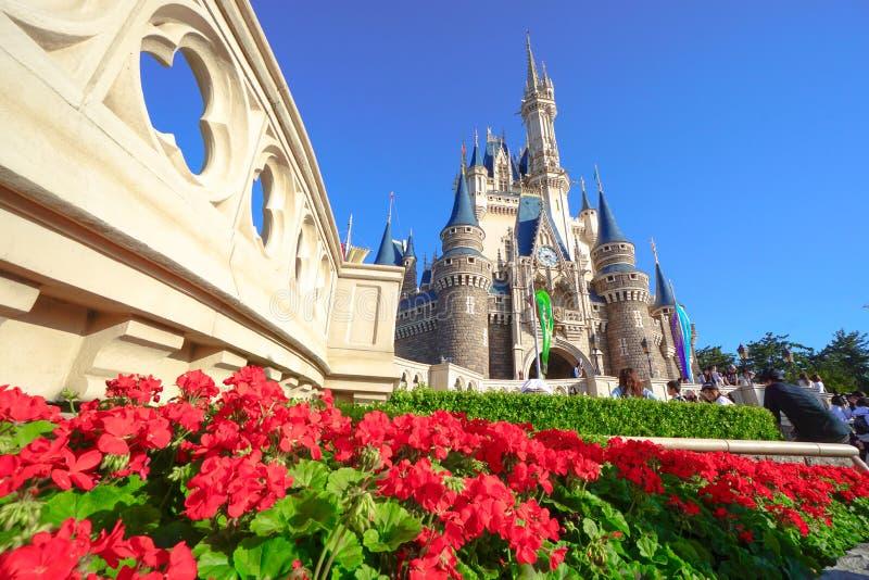 Mooie Cinderella Castle in Tokyo Disneyland, Tokyo, Japan royalty-vrije stock afbeelding