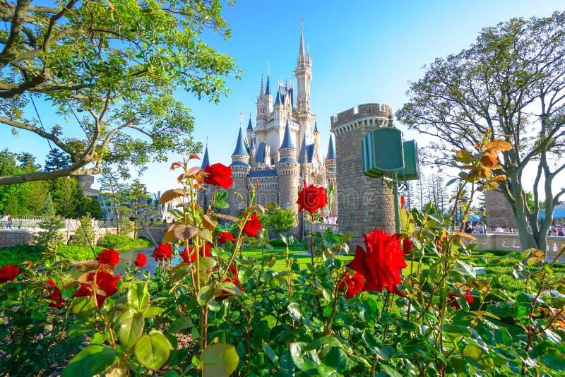 Mooie Cinderella Castle in Tokyo Disneyland, Tokyo, Japan stock foto's